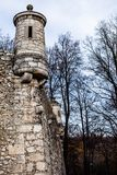 View of Pieskowa Skala Castle and garden, medieval building near Krakow, Poland Stock Photography