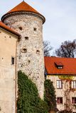 View of Pieskowa Skala Castle and garden  Royalty Free Stock Image