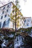 View of Pieskowa Skala Castle and garden  Royalty Free Stock Photography