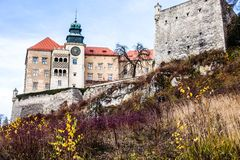 View of Pieskowa Skala Castle   Stock Photography