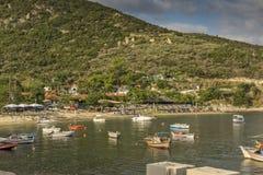 View of Pigadaki Beach, Chalkidiki,  Sithonia, Central Macedonia Stock Image
