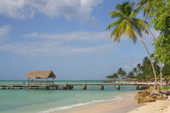 A view of the Pigeon point in the Tobago island / Caribbean Royalty Free Stock Images
