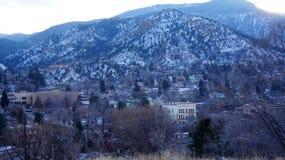 View from Pike Peak summit, Colorado Springs, CO. Stock Photos