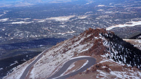 View from Pike Peak summit, Colorado Springs, CO. Royalty Free Stock Photography