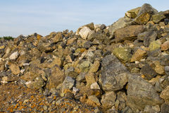 View a pile of gray rocks Stock Photo