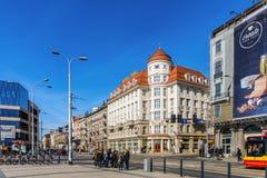 View of Pilsudski street Royalty Free Stock Image