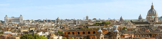 View from the Pincio Landmark in Rome, Italy Stock Photography