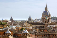 View from the Pincio Landmark in Rome, Italy Royalty Free Stock Image