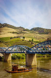 View from Pinhao village in Portugal to Douro valley Royalty Free Stock Images
