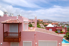 View on the pink villa Stock Images