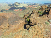 View Pinto Valley from the Hamblin Peak near Lake Mead, Nevada. Stock Image