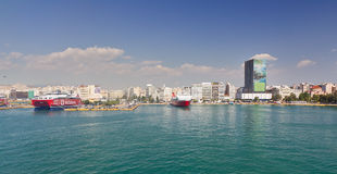 View of Piraeus port, Greece Stock Images