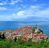 View of Piran city, Slovenia Stock Photos