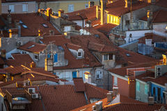 View of Piran town Stock Photography