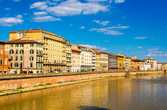View of Pisa over the River Arno Royalty Free Stock Photo