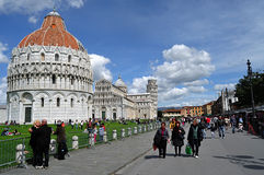 Pisa square of Miracles. A view from Pisa - Square of Miracles Stock Photos