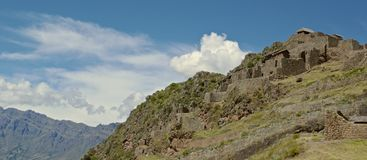 View of Pisac stock image