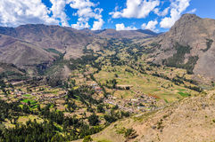 View from Pisac Sacred Valley, Peru Royalty Free Stock Photos