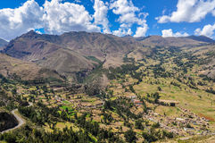 View from Pisac Sacred Valley, Peru Stock Image