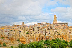 View of Pitigliano, ancient village in Tuscany Stock Images