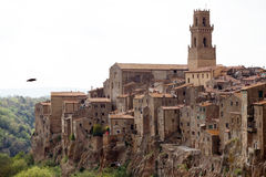 View of Pitigliano stock images