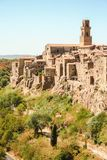 View of Pitigliano stock photography
