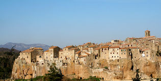 View of Pitigliano, Tuscany, Italy Royalty Free Stock Image