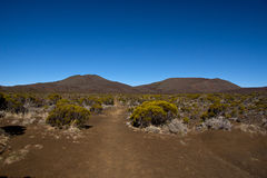 View of the Piton de la Fournaise Stock Photography