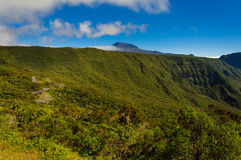 View of Piton des Neiges, Reunion Island. View of Piton des Neiges at Reunion Island Stock Photo