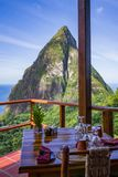 Dining in Paradise stock photos