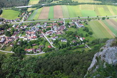 View from Pittentaler Klettersteig to Gleissenfeld Royalty Free Stock Images