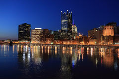 View of the Pittsburgh skyline Royalty Free Stock Image