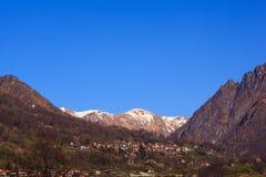 View of Pizzo di Gino mountain Royalty Free Stock Photo