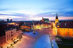 View of the Plac Zamkowy, royalty free stock photo