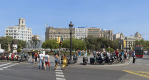 View of Placa de Catalunya Royalty Free Stock Photography
