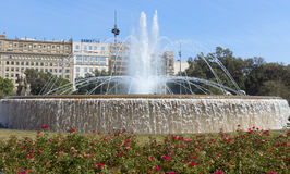 View of Placa de Catalunya Royalty Free Stock Photo