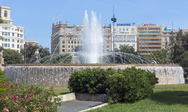 View of Placa de Catalunya Royalty Free Stock Photos