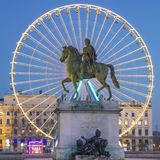 View of Place Bellecour by night Royalty Free Stock Photo