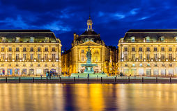 View of Place de la Bourse in Bordeaux Royalty Free Stock Photos