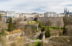 View of Place de la constitution - Luxembourg Royalty Free Stock Images
