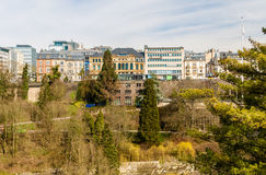 View of Place de la constitution - Luxembourg Royalty Free Stock Photo