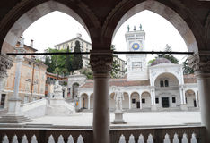 View of Place of Freedom from the loggia, Udine, Italy Royalty Free Stock Photos