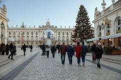 A view of Place Stanislas at Christmas Royalty Free Stock Image