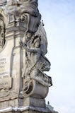 View of Plague Column at main square. Royalty Free Stock Photography