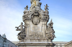 View of Plague Column at main square. Royalty Free Stock Photos