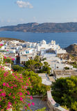View of Plaka village, Milos island, Greece Royalty Free Stock Photography