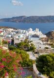 View of Plaka village, Milos island, Greece Royalty Free Stock Photography
