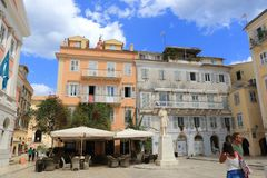 Corfu Old town square Greece Royalty Free Stock Photo