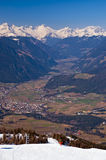 View from Plan de Corones towards Brunico Royalty Free Stock Photos