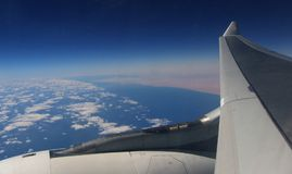 A view from the plane. Royalty Free Stock Photo